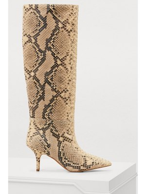 YEEZY Python-printed boots