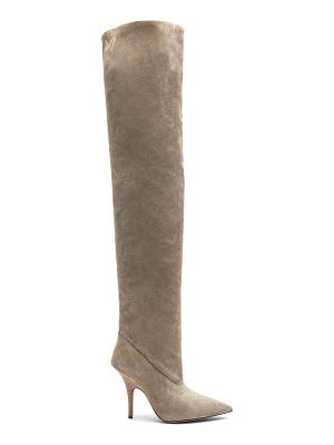 YEEZY Season 5 Suede Tubular Thigh High Boots