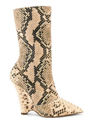 YEEZY season 8 python wedge ankle boot