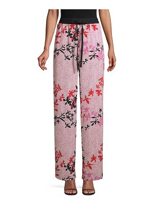 Yigal Azrouel printed crepe track pants