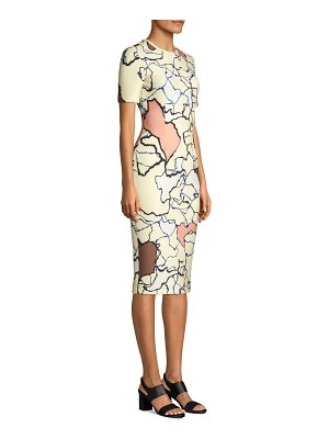 Yigal Azrouël printed scuba sheath dress