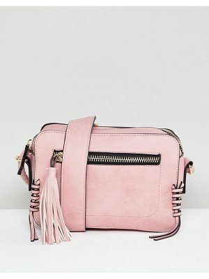 Yoki Fashion Boxy Cross Body Bag in Rose