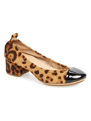 Yosi Samra newton genuine calf hair cap toe pump