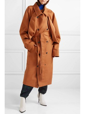 Y/PROJECT oversized layered gabardine trench coat