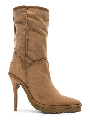 Y/PROJECT Sheepskin Ugg Ankle Boot