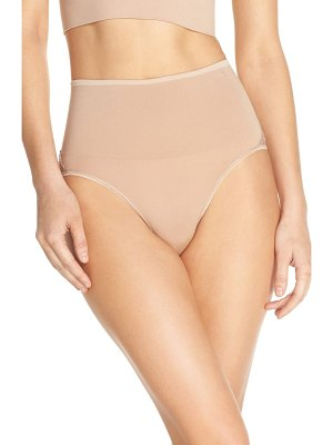 Yummie by Heather Thomson ultralight seamless lace inset shaping briefs