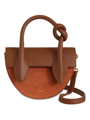 Yuzefi Dolores leather & suede top handle bag