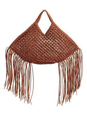 Yuzefi Large woven faux leather top handle bag