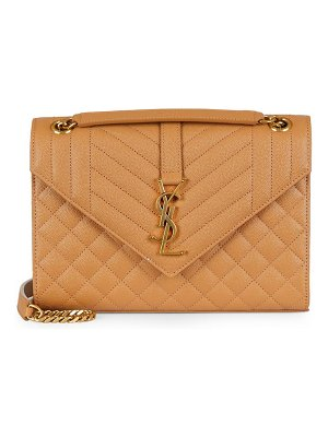 Yves Saint Laurent envelope monogram matelassé leather shoulder bag