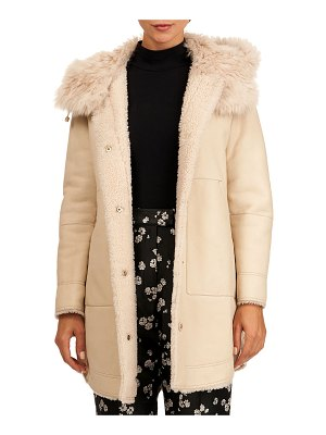 Yves Salomon Lamb Shearling Parka Coat w/ Toscana Lamb Trim