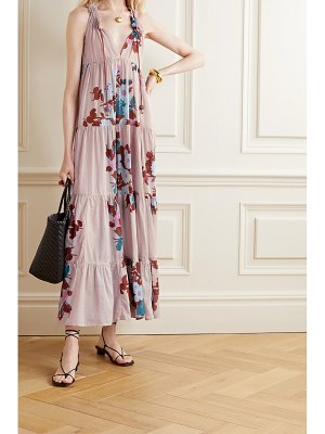 YVONNE S hippy tiered floral-print cotton-voile maxi dress