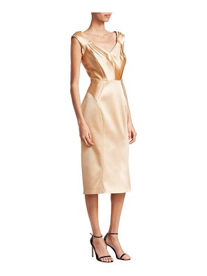 Zac Posen stretch satin cocktail dress
