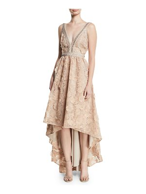 ZAC ZAC POSEN Bettina V-Neck High-Low Gown