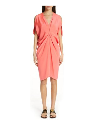 Zero + Maria Cornejo cold shoulder silk crepe dress