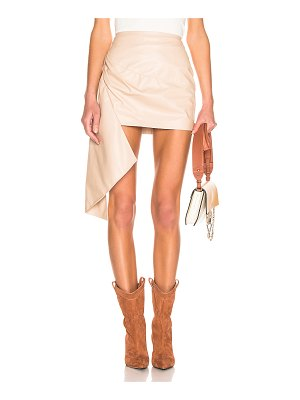 Zeynep Arcay asymmetric mini leather skirt