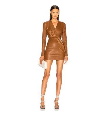 Zeynep Arcay belted leather mini dress