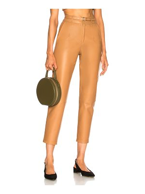 Zeynep Arcay Belted Leather Pants