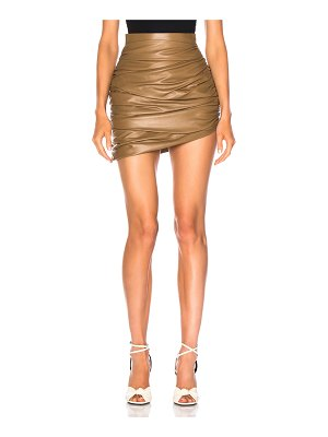 Zeynep Arcay for FWRD Draped Mini Leather Skirt