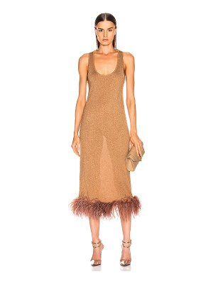 Zeynep Arcay midi feather knit dress