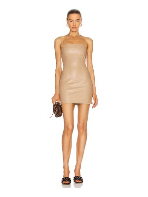 Zeynep Arcay mini spaghetti leather dress