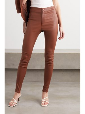 Zeynep Arcay stretch-leather skinny pants
