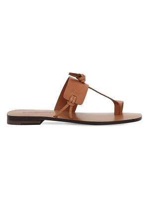 Zimmermann 10mm knotted leather flat sandals