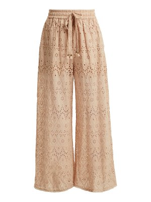 Zimmermann bayou cotton and silk blend trousers