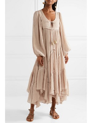 Zimmermann bayou crinkled ramie and cotton-blend midi dress