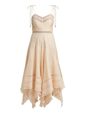Zimmermann bowie lace-trimmed fil-coupé cotton midi dress