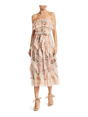 Zimmermann bowie waterfall silk dress