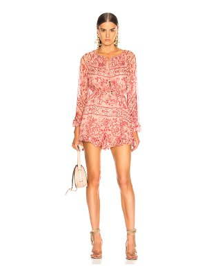 Zimmermann Castile Flared Sleeve Playsuit