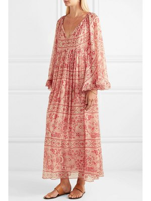 Zimmermann castile printed silk-crepon maxi dress