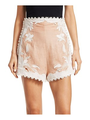 Zimmermann corsage lily embellished shorts