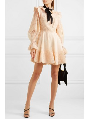 Zimmermann espionage corded lace and point d'esprit tulle mini dress