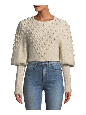 Zimmermann Fleeting Bauble Cropped Sweater
