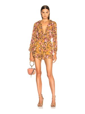 Zimmermann Golden Ruffle Playsuit
