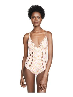 Zimmermann goldie crescent cutout one piece