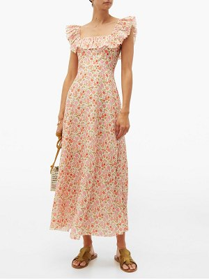 Zimmermann goldie floral print linen maxi dress