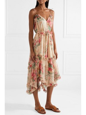 Zimmermann laelia floral-print silk-crepon midi dress
