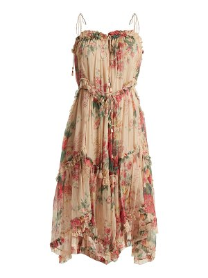 Zimmermann Laelia Floral Print Silk Dress