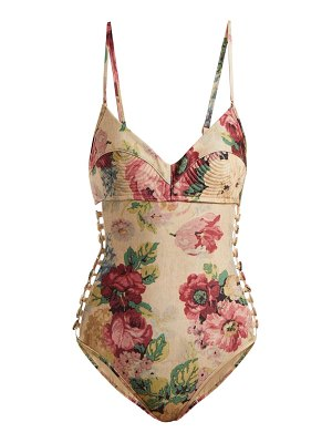 Zimmermann Melody Bullet floral-print swimsuit
