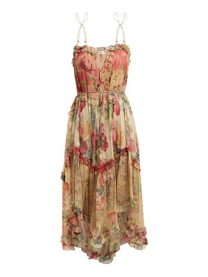Zimmermann melody floating floral print silk dress