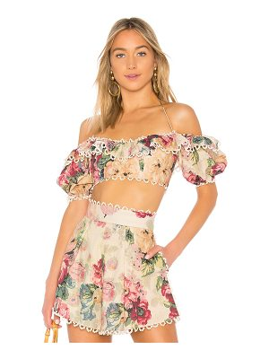 Zimmermann Melody Off the Shoulder Top