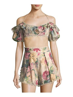 Zimmermann melody off-the-shoulder cropped top