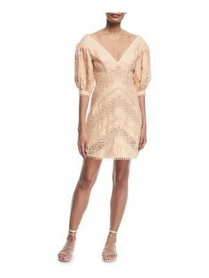 Zimmermann Painted Heart Chevron Dress