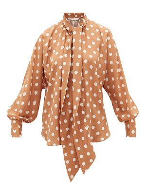 Zimmermann polka-dot silk crepe-de-chine blouse