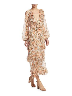 Zimmermann radiate frill sheer silk midi dress