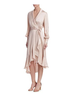 Zimmermann ruffle-hem silk wrap dress
