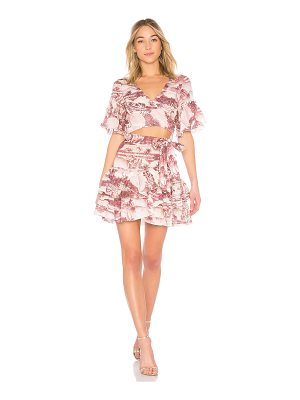 Zimmermann Short Sleeve Wrap Dress