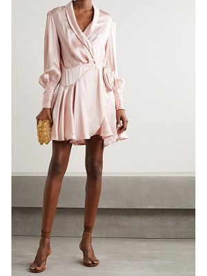 Zimmermann silk-satin wrap mini dress
